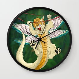 Hang in there Flammie! Secret of Mana Wall Clock