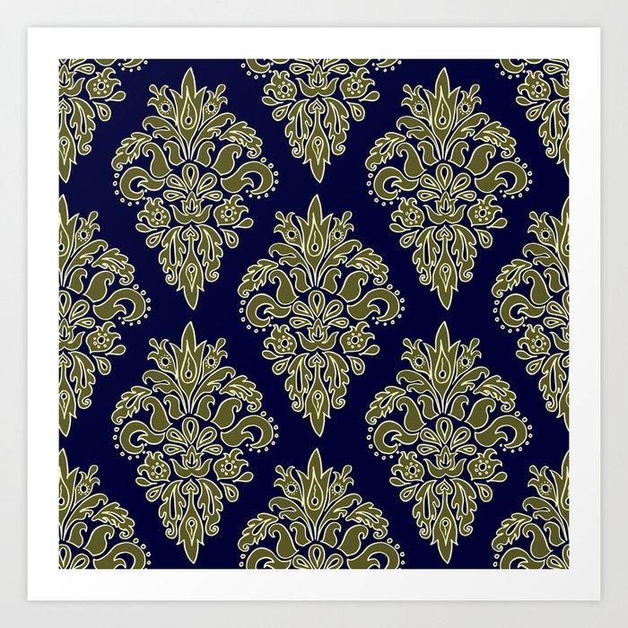 Ornate Vintage Pattern Art Print