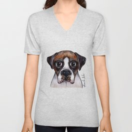 Jake The Boxer Unisex V-Neck