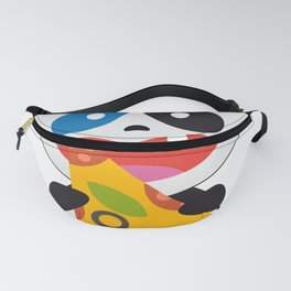Panda Bear with Pizza Food Fanny Pack