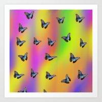 butterflies Art Prints featuring Butterflies by Fine Art by Rina