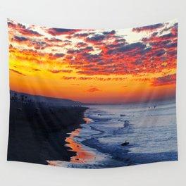 Sunrise Huntington Beach Pier   12/12/13 Wall Tapestry