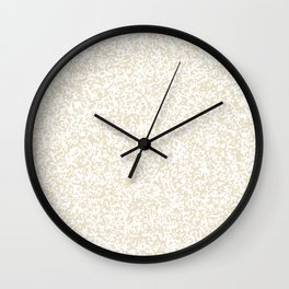 Tiny Spots - White and Pearl Brown Wall Clock