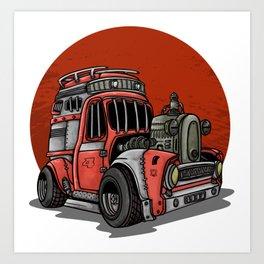 apocalypse car Art Print