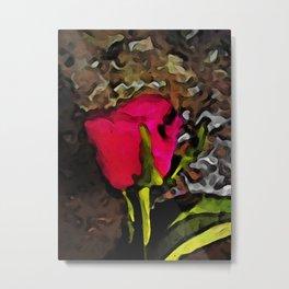 Pink Red Rose Metal Print