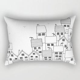Harbour sketch Rectangular Pillow