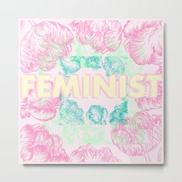 Feminist - Abstract Tulips Metal Print