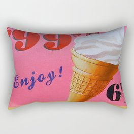 Vintage Style Ice Cream Sign Rectangular Pillow
