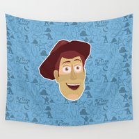 woody Wall Tapestries featuring Woody - Toy Story by Kuki