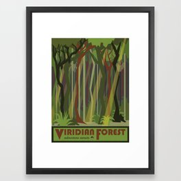 Viridian Forest Travel Poster Framed Art Print