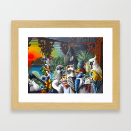 Chit-Chat On The Island Framed Art Print