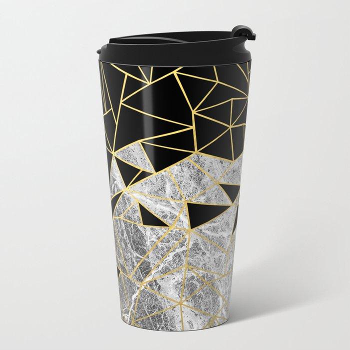 Marble Ab Metal Travel Mug