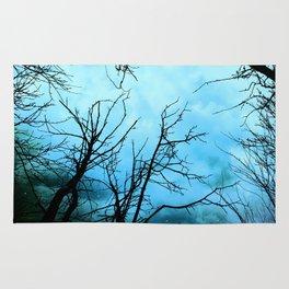 Aqua Skies Tree and Stars A163 Rug