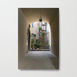 Side Street - Rome Metal Print