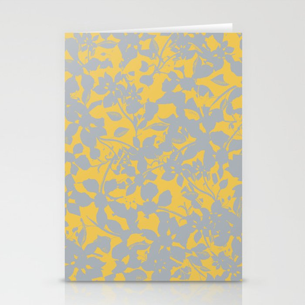 Sunshine Yellow - Broken but Flourishing Floral Pattern Stationery Cards