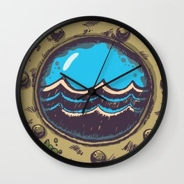 rough sea Wall Clock