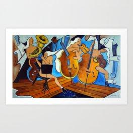 Symphonie de Cobalt Art Print