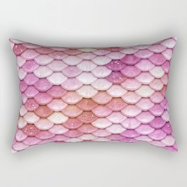 Multicolor pink mermaid glitter scales - Mermaidscales Rectangular Pillow