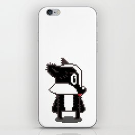 Brock Taxus The Pixel Badger iPhone Skin