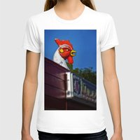 scary T-shirts featuring Scary Chicken by Mark Alder