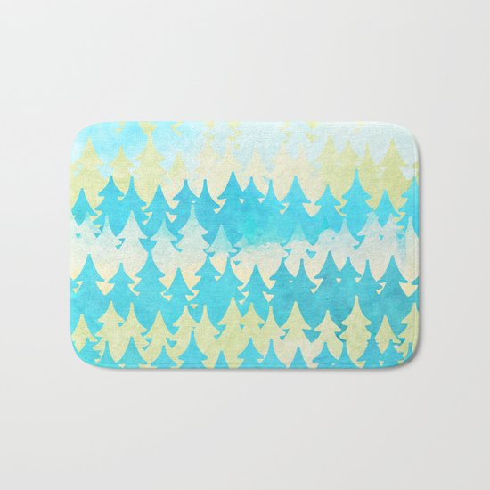 The secret forest -on a wonderful day - Abstract tree pattern Bath Mat