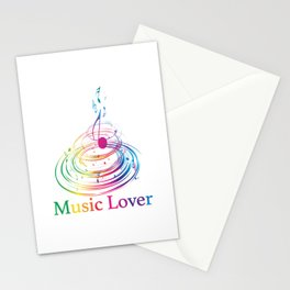 Music Theme Colorful Music Note Design Stationery Cards