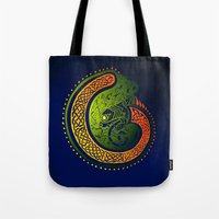 irish Tote Bags featuring Irish Twist by Alan Hogan
