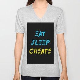 Eat Sleep Create - Concept Unisex V-Neck