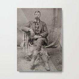 19th Century Vintage Portrait (with mustache) Metal Print