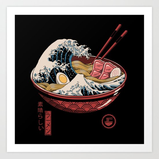 Great Ramen Wave by vincenttrinidadart