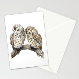 Two owls Stationery Cards