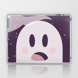 Pink Surpried Ghost Laptop & iPad Skin