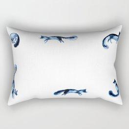 Running silver foxes Rectangular Pillow