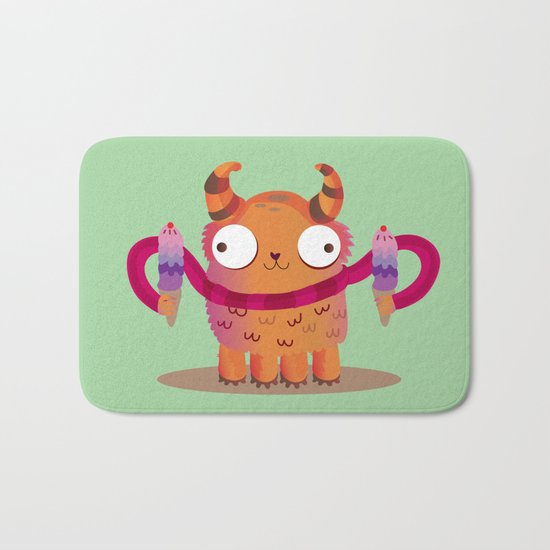 Icecream monster Bath Mat