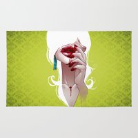 vampire diaries Area & Throw Rugs featuring Vampire by Kimball Gray