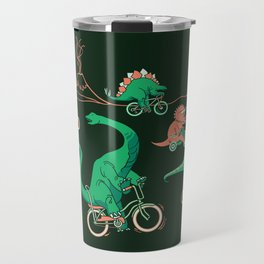 Dinosaurs on Bikes! Travel Mug