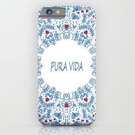 PURA VIDA LOVE iPhone Case