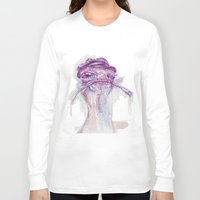 ostrich Long Sleeve T-shirts featuring Ostrich Painter by Ahmad Mujib