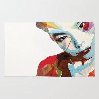 bjork Area & Throw Rugs featuring Bjork by Zaneta Antosik