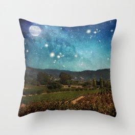 Starlit Vineyard II Throw Pillow