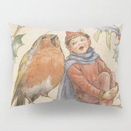"""A Christmas Duet"" by Margaret Tarrant Pillow Sham"