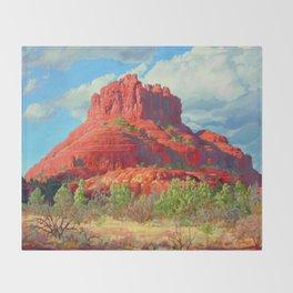 Big Bell Rock Sedona by Amanda Martinson Throw Blanket