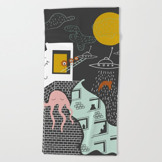 Facts urban art Beach Towel