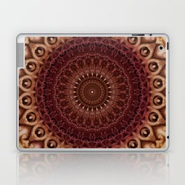 Mandala in brown and red tones Laptop & iPad Skin