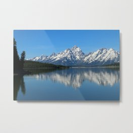 Jackson Lake and Grand Teton Refection Metal Print