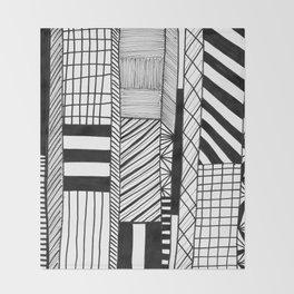 Mono Geo Lines Throw Blanket