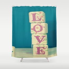 Take A Chance On Love Shower Curtain