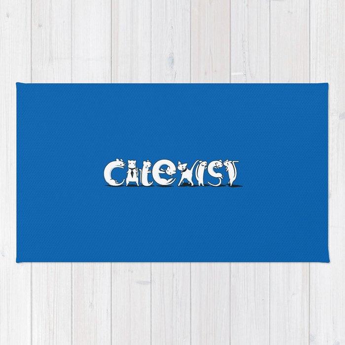 Cat Exist | Coexist Parody Typography Rug