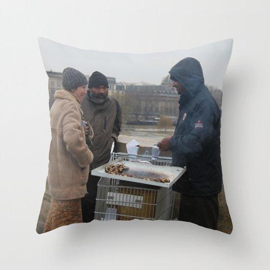 Christmas in Paris Throw Pillow