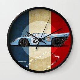 Le Mans Racetrack Vintage Wall Clock